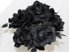 Velvet Bloom Roses - Black 1-bunch