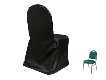 Banquet Chair Covers (Satin) - BLACK