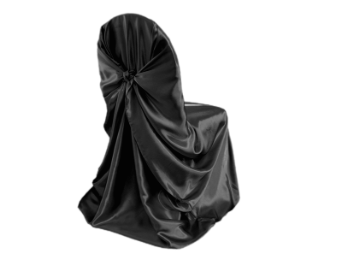 Universal Chair Covers (Satin) - BLACK