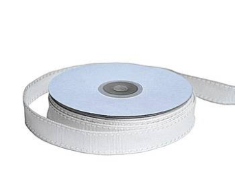 1.58cm Stitched Grosgrain - Ivory
