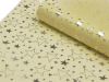Non-woven Star Print Fabric Silver/Ivory - 48cm x 9.14m