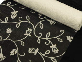 Organza Embroidery Roll 30.48cm x 9.14m - Ivory