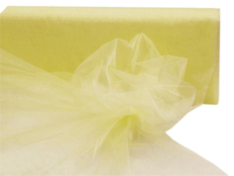 137.16cm x 36.5m Organza Fabric Bolt - Yellow