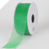 2.22 cm Organza Ribbon-Emerald Green