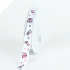 MooMoo Cow Grosgrain Ribbon - White (1.58cm wide)