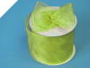 6.98cm Organza Ribbon-Apple Green