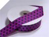 2.22cm Polka Dot Ribbon-Purple with Black