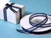0.95cm Satin Edge Organza - Navy Blue