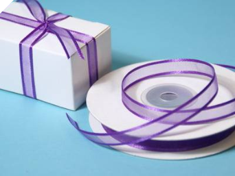 0.95cm Satin Edge Organza-Purple