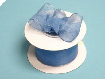 3.81cm Wired Organza-Periwinkle