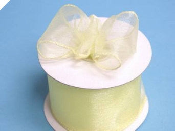 6.35 cm Wired Organza-Yellow