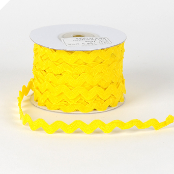 10mm Ric Rac - Yellow