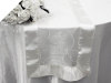 Motif Embroidery Table Runner - White