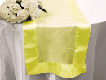 Motif Embroidery Table Runner - Yellow