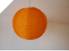 25.40cm Solar Powered Lantern-Orange