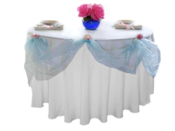 Organza Overlay 182.88cm x 182.88cm - 25 colours available