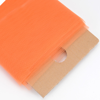 137.16cm x 36.5m Tulle Fabric Bolt - Orange