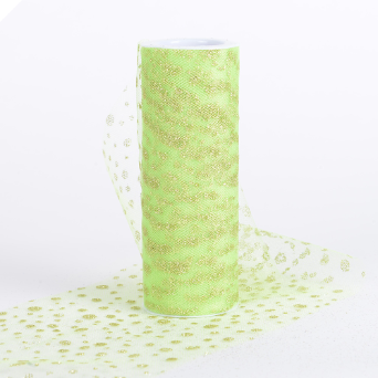 Sparkle Dot Tulle Roll 15.24cm x 9.14m - Apple Green