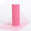 Sparkle Dot Tulle Roll 15.24cm x 9.14m - Coral