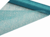 48.26cm x 9.14m Glittered Scrunch Mesh - Turquoise