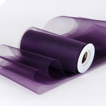 Shimmering Organza Tulle - Eggplant