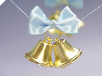 Gold Wedding Bells-24/pk