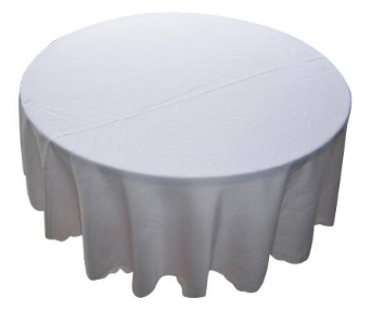 228.60cm  Round Tablecloth - Various Colours