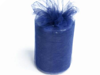 15.24cm x 91.44m Tulle Roll - Navy Blue