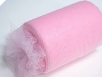 22.86cm x 91.44m Tulle Roll - Pink