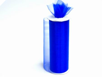 Shimmering Organza Tulle - Royal Blue