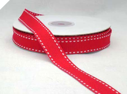 1.58cm Stitched - Red