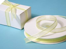 0.95cm Satin Edge Organza-Yellow