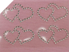Adhesive Sparkle Double Hearts - Clear 24pk