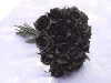 Silk Rose Bud Bouquet - Black