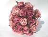 Silk Rose Bud Bouquet - Burgundy