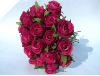 Silk Rose Bud Bouquet - Red