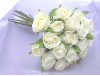 Silk Rose Bud Bouquet - White