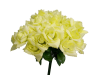 Silk Open Rose - Yellow 1-bunch