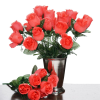 Silk Rose Buds - Coral 1-bunch