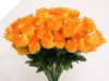 Silk Rose Buds - Orange 1-bunch