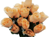 Silk Rose Buds - Peach 1-bunch