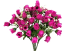 Mini Rose Buds - Hot Pink/Fuchsia 1-bunch