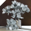 Silk Rose Buds - Silver 1-bunch