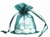 10.16 cm x 15.24 cm Hunter Green Organza Bags-10/pk