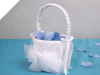 Sheer Bow Flower Girl Basket