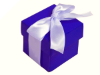 Violet Purple Favour Boxes 2pc - 25 pack