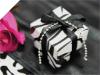 Black & White Zebra Stripe Favour Boxes 2pc - 25 Pack