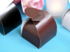 Chocolate Heart Top Favour Box -50pc