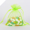 10.16 cm x 15.24 cm Apple Green Organza Bags-10/pk