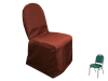 Banquet Chair Covers (Polyester) - CHOCOLATE